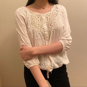 CHARMING CHARLIE'S Button Up Blouse